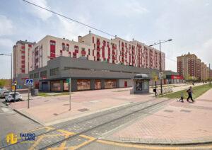 Obra del nuevo supermercado Alcampo en Parla ejecutado por Falero y Laín Ingenieros